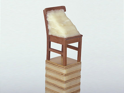 Wax Chair for Beuys (Wood, beeswax)